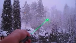 50mW Green Laser - Beam at day and night