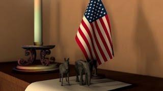 US Republican and Democratic symbols
