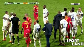 Two players fight eachother - two red cards NEW HD! 17.03.18