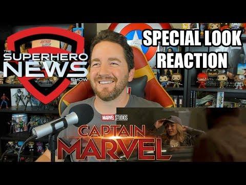 Marvel Studios' Captain Marvel Special Look Reaction