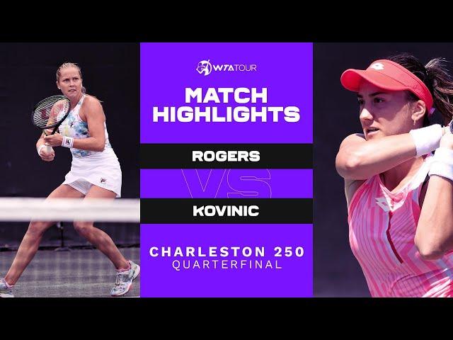 Shelby Rogers vs. Danka Kovinic | 2021 Charleston 250 Quarterfinal | WTA Match Highlights