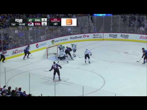 Joe Colborne Scores First Career Hat Trick || Avs Vs Stars 2016 NHL Action ||