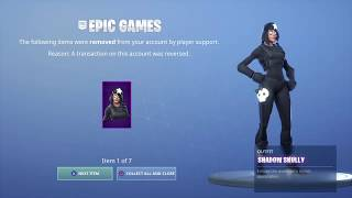 Fortnite Refunded my skins...