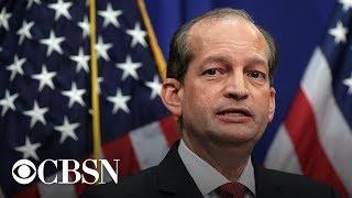Acosta Resigns: U.S. Labor Secretary Alexander Acosta resigns amid Epstein case, live stream