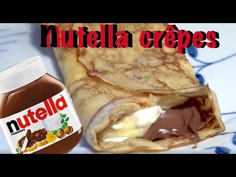Franske Nutella crêpes / Pandekager med Nutella - Opskrift #34