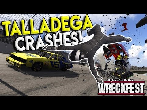 NASCAR TALLADEGA CRASH EJECTS DRIVER! - Next Car Game: Wreckfest Gameplay - Nascar Big One
