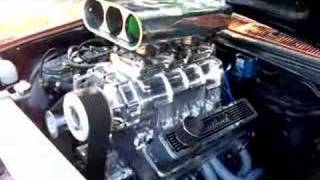 Weiand 6 71 On 350 Chev Running LPG In HJ Monaro