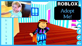 ADOPT ME! WITH FUNNY BLOOPERS! Play Roblox with Marilyn! | SISTERS WHO GAME | Our Candid Kids