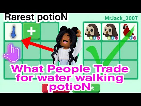 What People Trade For Water Walking Potion In Adopt Me / Very Rare Potion
