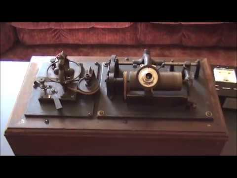 1800's HOMEMADE Electric Class M Type Cylinder Phonograph-Only Example Known!