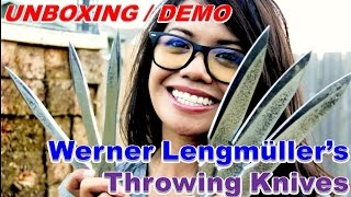 Werner Lengmüller's Throwing Knives (Unboxing/Demo)