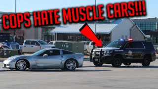 CORVETTE DOES DONUTS AND RUNS FROM COPS LEAVING DALLAS CARS AND CANTINA!!!