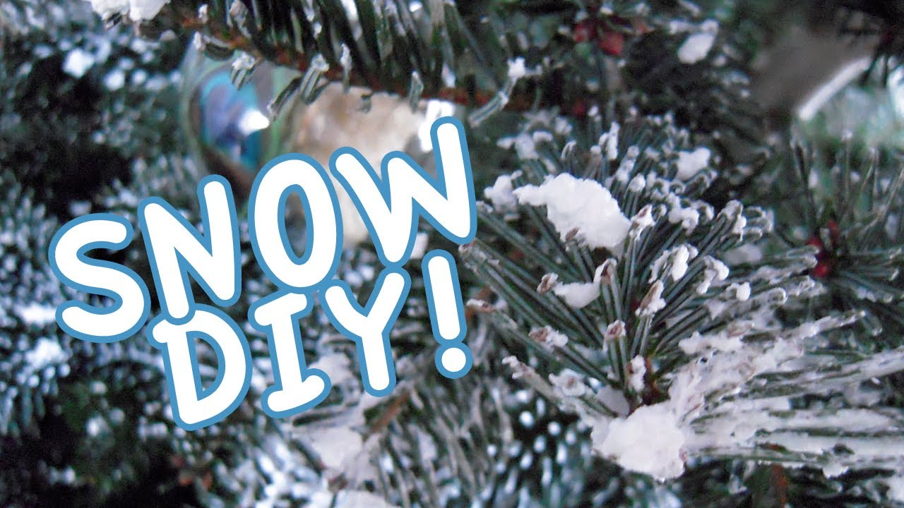 diy flock your christmas tree or wreath with soap youtube - Snow Christmas Tree