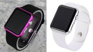 Обзор товаров на AliExpress - модные светодиодные часы с силиконовым  ремешком