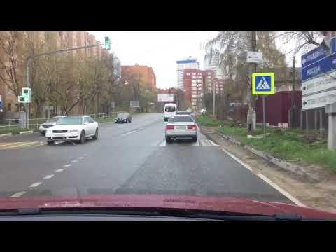 Поездка на машине, Старое Ярославское шоссе, Пушкино.