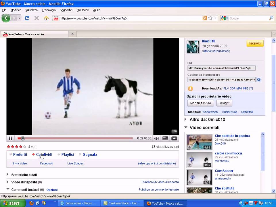 video da youtube con firefox componente aggiuntivo