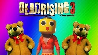 Dead Rising 3 Funny Moments Gameplay 2 - Teddy Bear, RollerHawg, Electric Crusher, Football Zombies