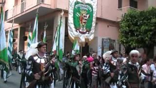 I Pistonieri Santa Maria del Rovo in corteo lungo Corso Umberto I i...