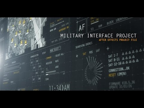 HUD Military Interface Project  After Effects project  YouTube