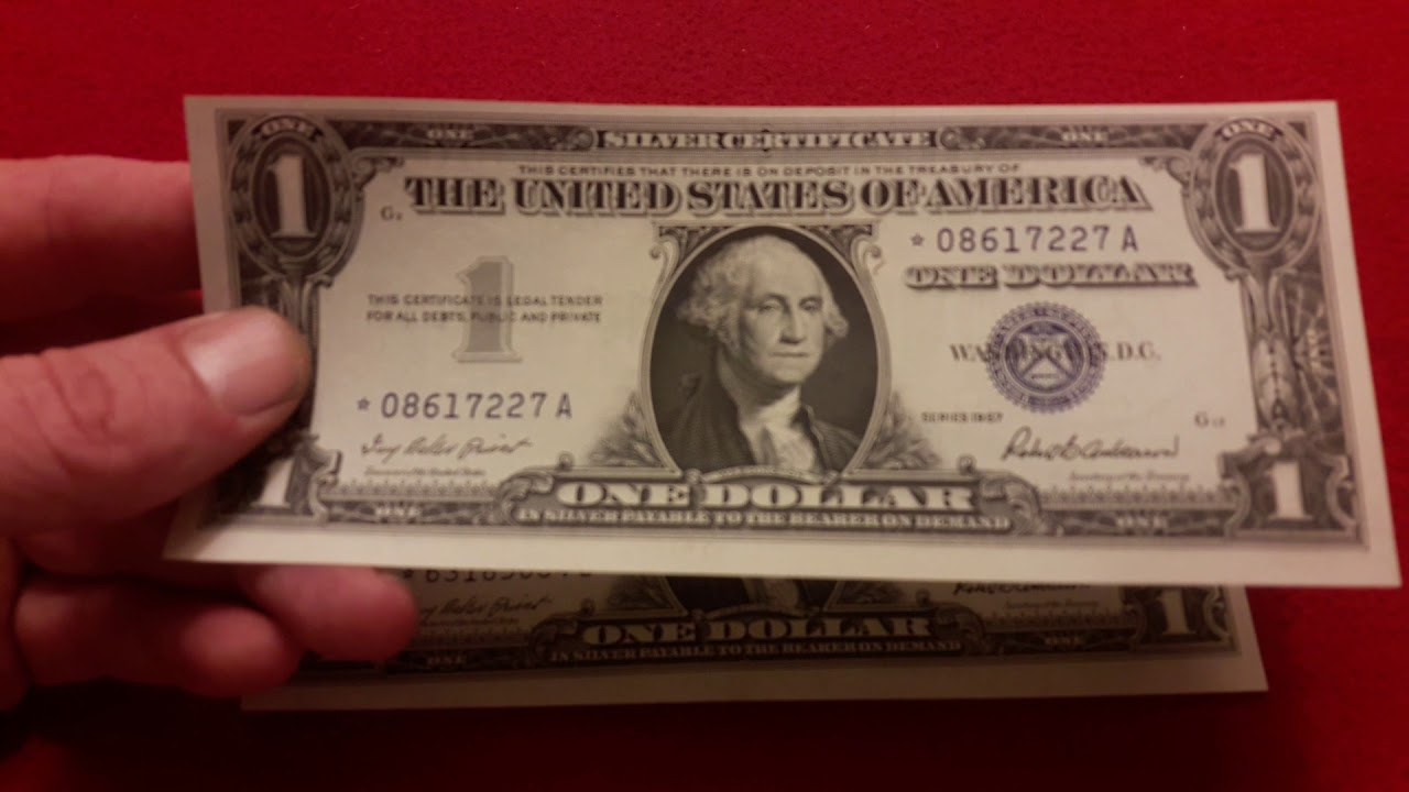 1957 Epic Silver Certificate Star Error Notes Amazing Rare Us