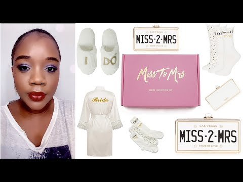 """MISS TO MRS BRIDAL BOX SUBSCRIPTION UNBOXING & REVIEW♡ """"Keep Calm & Plan On"""" Theme (Box:4)♡"""