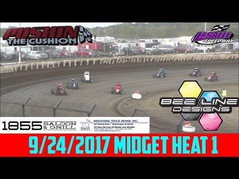 LaSalle Speedway - 9/24/17 - Midgets - Heat 1