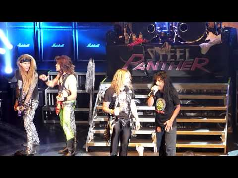 Steel Panther and Joey Belladonna (Anthrax) Don't Stop Belivin' Newcastle O2 Academy November 7 2012