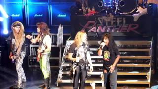 Steel Panther and Joey Belladonna (Anthrax) Dont Stop Belivin Newcastle O2 Academy November 7 2012