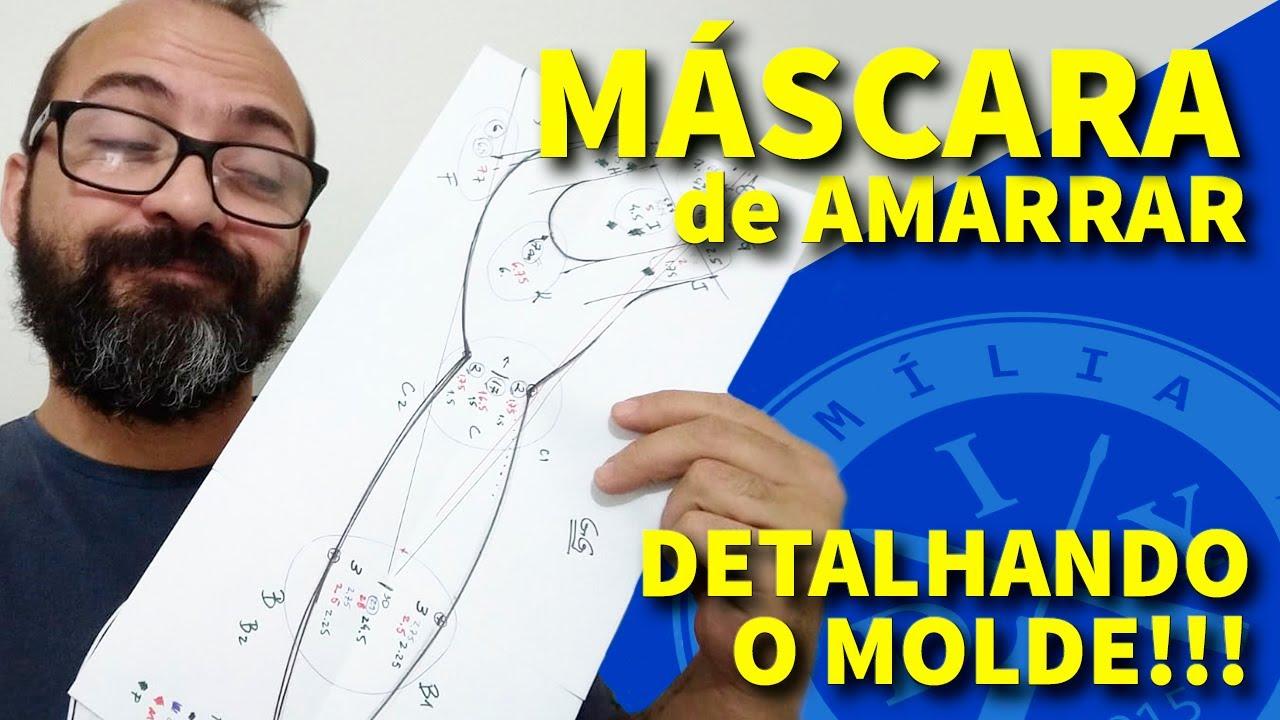 DESENHANDO MÁSCARA DE AMARRAR - FAMÍLIA DIY