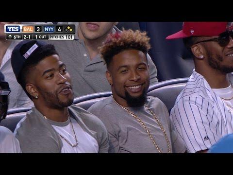 Beckham Jr. reacts to foul at Yankee Stadium