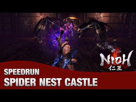 Nioh - Spider Nest Castle NG+ Speedrun (2:10)