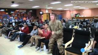 Troops in Kuwait celebrate watching Ohio State win