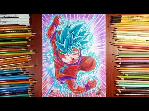 Drawing Goku SSJ Blue kaioken | Dragonball Super