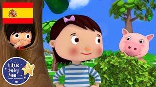 Canciones Infantiles | ¿Dónde Estás? | Dibujos Animados | Little Baby Bum en Español