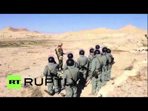 Syria: Russian sappers begin de-mining ancient ruins of Palmyra