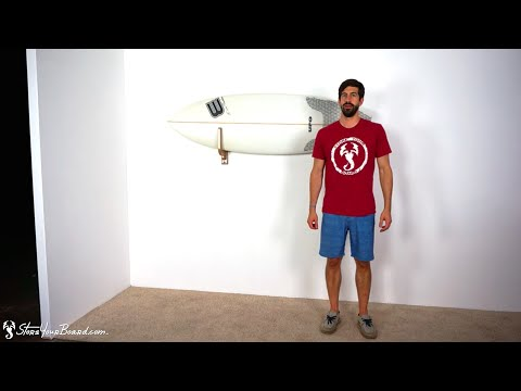 Compact Wood Surfboard Wall Rack | StoreYourBoard