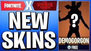 The New Fortnite STRANGER THINGS SKINS..