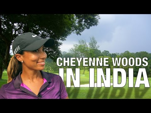 Tiger's Niece Cheyenne Woods Greets Us With a Namaste!