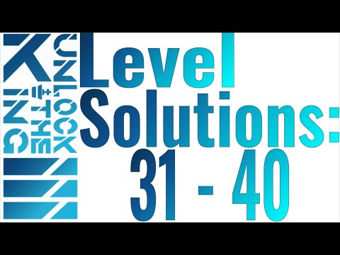 Unlock The King 3 Solutions: Levels 31 - 40 |