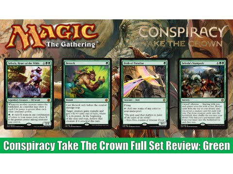 MTG Conspiracy Take The Crown Full Set Review: Green! Magic the Gathering!
