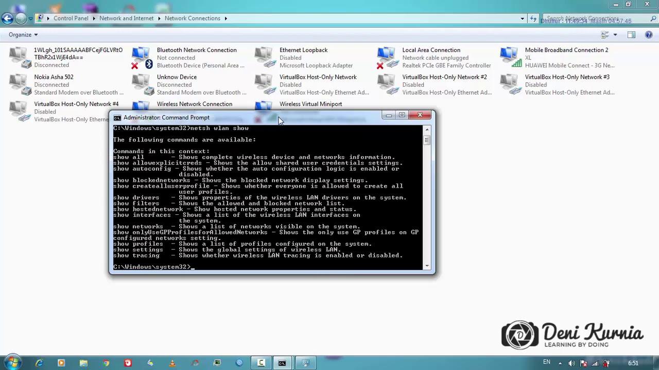 Cara Membuat Hotspot Penambatan Dari Komputer Ke Hp Smartphone Di Windows 7 Youtube