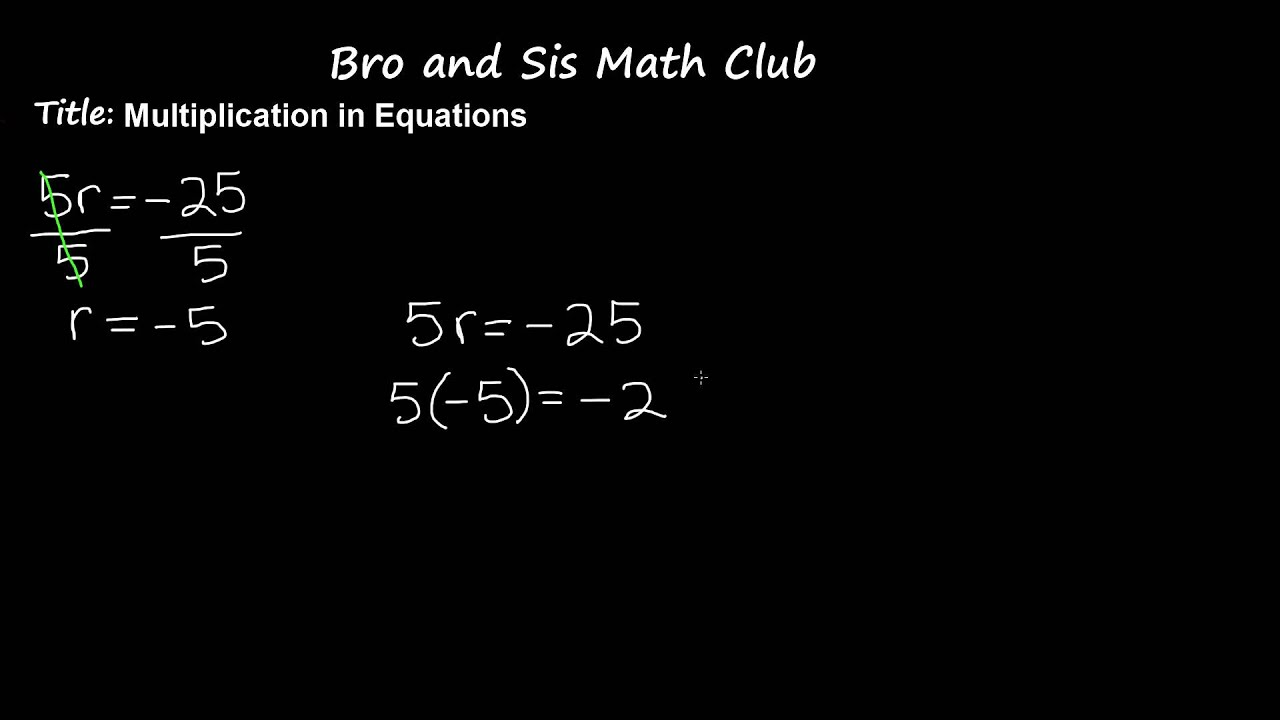 6th Grade Math Multiplication in Equations - YouTube
