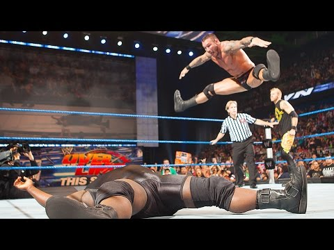 Randy Orton's toe-touch split RKO celebration: SmackDown, May 20, 2011