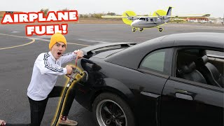We Put AIRPLANE GAS In a Muscle Car!