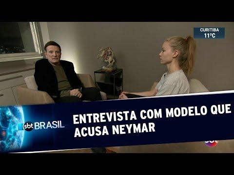 Exclusivo: Modelo que acusa Neymar de estupro fala com Roberto Cabrini | SBT Brasil (05/06/19)