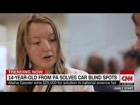 Teen invents solution to eliminate blind spots for cars