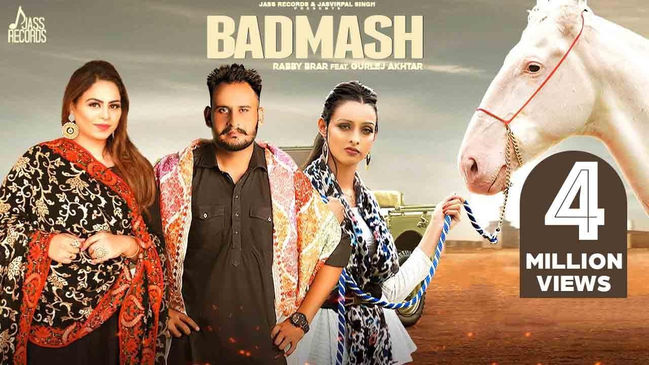 Badmash | (Full HD) | Rabby Brar | Gurlej Akhtar | Latest Punjabi Songs 2020 | Jass Records