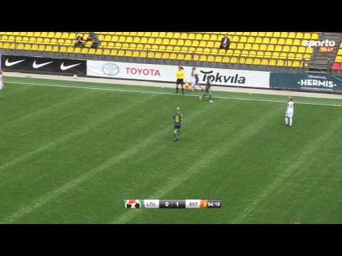 SportoTV.lt: Baltijos moterų futbolo taurės turnyras Lietuva-Estija 2013-08-25