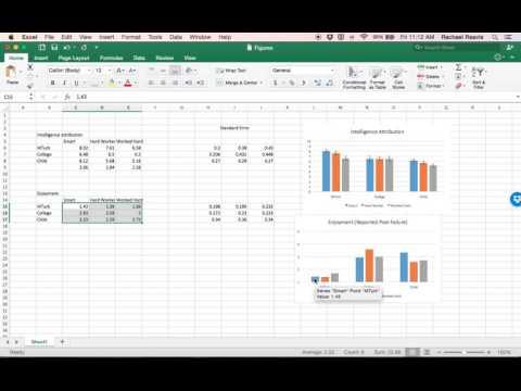 Custom Error Bar (Standard Error Bar) Tutorial - Excel 2016 (Mac)