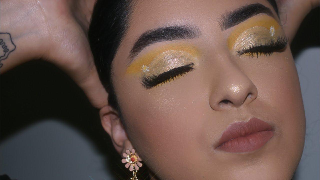 Maquillaje amarillo feliz 💛 | Anguie Torres
